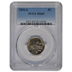 1931-S Buffalo Nickel PCGS MS65