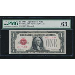 1928 $1 Legal Tender Note PMG 63EPQ