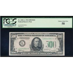 1934 $500 San Francisco Federal Reserve Note PCGS 58