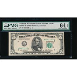 1950B $5 St Louis Federal Reserve Star Note PMG 64EPQ