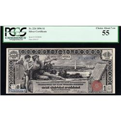 1896 $1 Educational Silver Certificate PCGS 55
