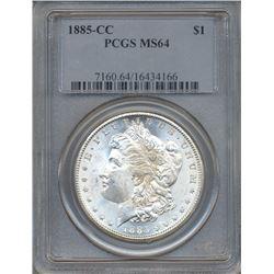 1885-CC $1 Morgan Silver Dollar Coin PCGS MS64