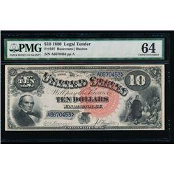 1880 $10 Jackass Legal Tender Note PMG 64