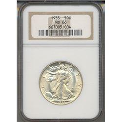 1935 Walking Liberty Half Dollar Coin NGC MS66