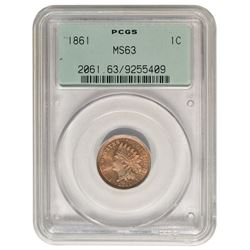1861 Indian Cent PCGS MS63