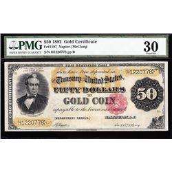 1882 $50 Gold Certificate PMG 30