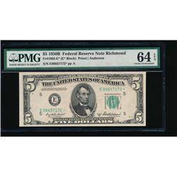 1950B $5 Richmond Federal Reserve Star Note PMG 64EPQ