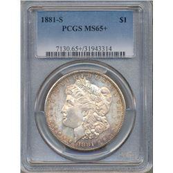 1881-S $1 Morgan Silver Dollar Coin PCGS MS65+