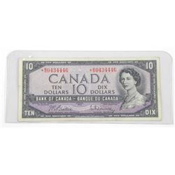 Bank of Canada 1954 Ten Dollar Note * Replacement