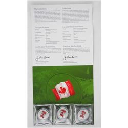 Lot (3) .9999 Fine Silver 2015 $25.00 Coins in Fol