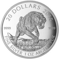 2015 $20 Prehistoric Animals: American Scimitar Sa