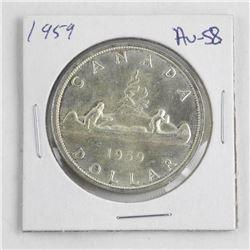 1959 Canada Silver Dollar.ξ AU-58