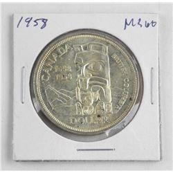 1958 Canada Silver Dollar.ξMS60