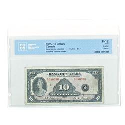 Bank of Canada 1935 Ten Dollar Note. F-12. CCCS. O