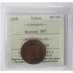 Breton 587 ICCS Token MS-60