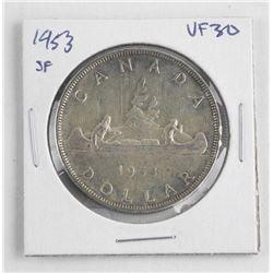 1953 Canada Silver Dollar.ξSF. VF30