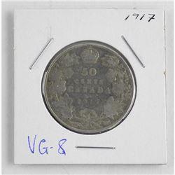 1917 Canada Silver 50 Cent. VG8