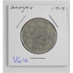 1919 Canada Silver 50 Cent. VG-10