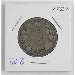 1929 Canada Silver 50 Cent. VG-8