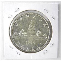 1959 Canada Silver Dollar. MS-60.