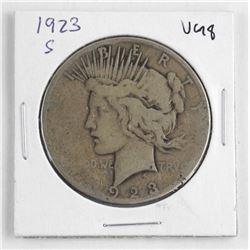 1923 US Silver Peace Dollar VG8