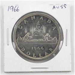 1966 Canada Silver Dollar (AU55)