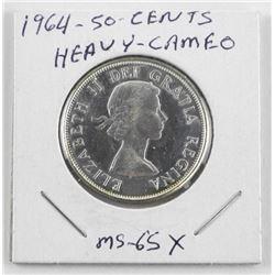 1964 Canada Silver 50 Cent Heavy Cameo. (MXR)