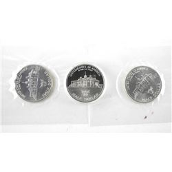 Lot (3) George Washington .900 Silver Half Dollars