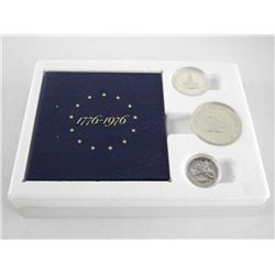 USA 1776-1976 Bicentennial 3 Coin Set