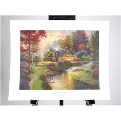 Thomas Kinkade litho 'Still Water Cottage' 16x20""