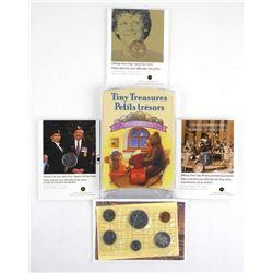 Estate Lot (5) UNC Coins, Folios etc