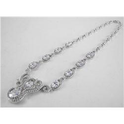 Handmade 925 Silver Necklace with Fancy Cut Swarov