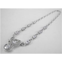 Handmade 925 Silver Necklace with Fancy Cut Swarov