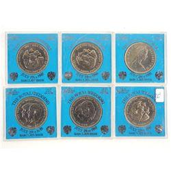 Estate Lot (6) Royal Wedding Medals