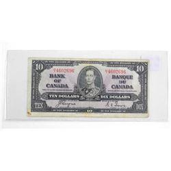 Estate Bank of Canada 1937 Ten Dollar Note. C/T