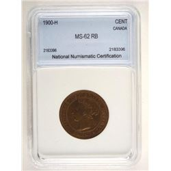 1900H Cent Coin NNC - MS-62RB (SME)