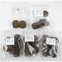 Estate - Lot King George One Cent Coins