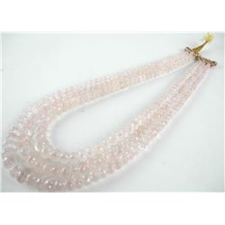 "Estate - 30"" Pink Quartz Double Necklace (GR)"