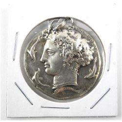 Ancient Medal - Raised Vignette 'RICORDO Di Siracu