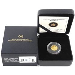 .9999 Fine Pure Gold Coin 50 Cents - Wood Bison