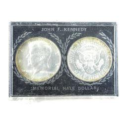 Lot (2) 'JFK' Silver Memorial Half Dollars
