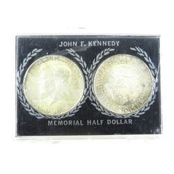 Lot (2) 'JFK' Silver Memorial Half Dollars