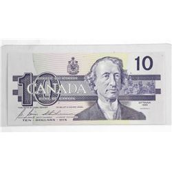 1989 Bank of Canada Ten Dollar Note.
