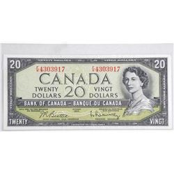 1954 Bank of Canada Twenty Dollar Note. B/R