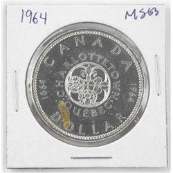 1964 Canada Silver DollarξMS63.