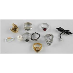 Estate Lot - Rings and Mounts Sterling Silver etc