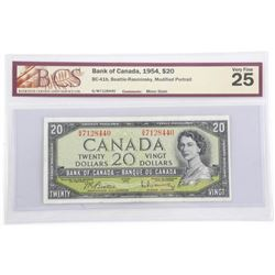 Bank of Canada 1954 Twenty Dollar Note. Modified P