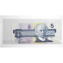 Bank of Canada 1986 5.00 UNC