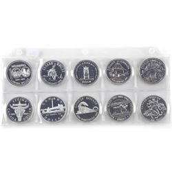 Lot (10) UNC CAD Silver Dollars