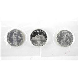 Lot (3) George Washington .900 Silver Half Dollars